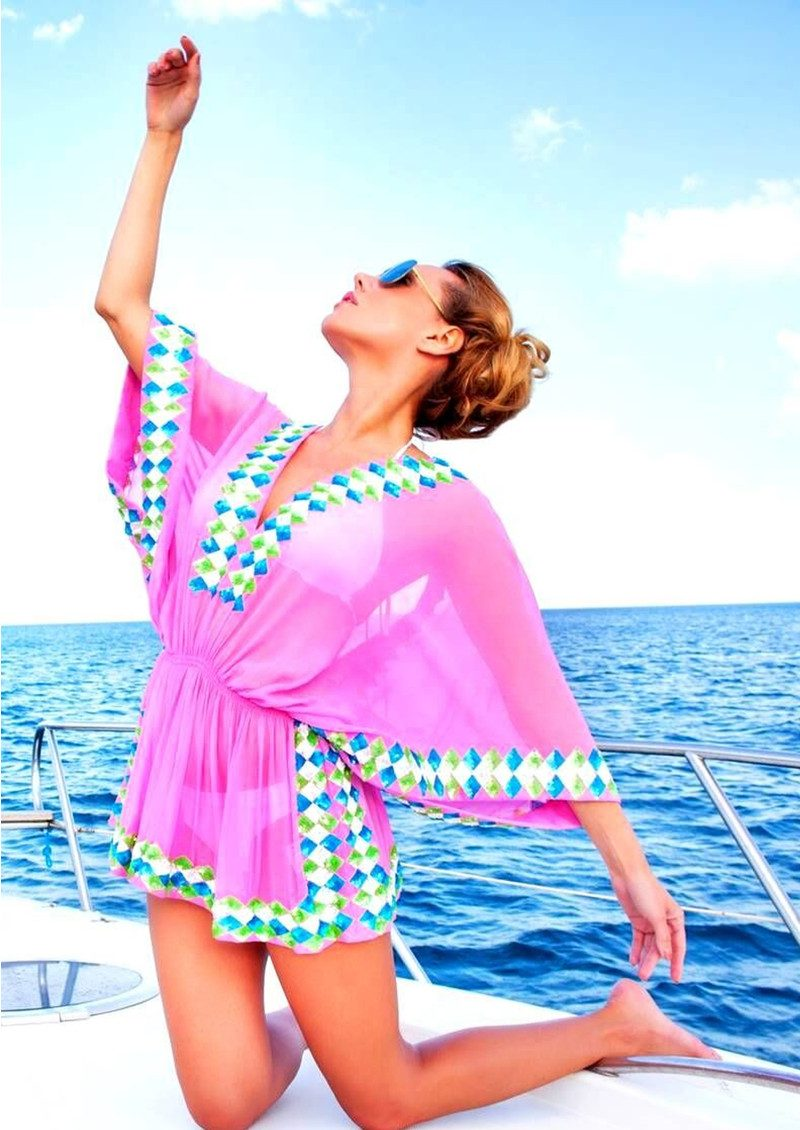 LINDSEY BROWN Manhattan Top - Pink, White, Turquoise & Lime main image