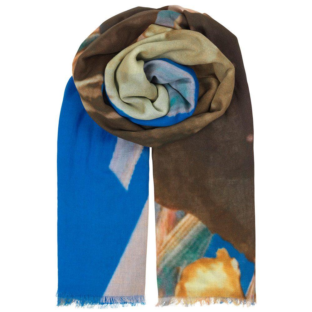 Halawa Cotton Scarf - Brilliant Blue