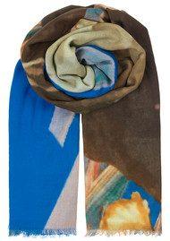 Becksondergaard Halawa Cotton Scarf - Brilliant Blue