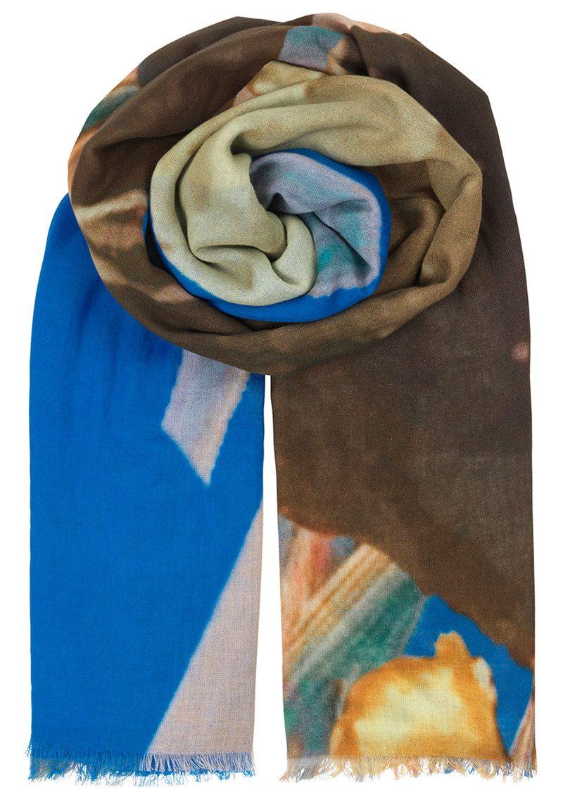 Becksondergaard Halawa Cotton Scarf - Brilliant Blue main image