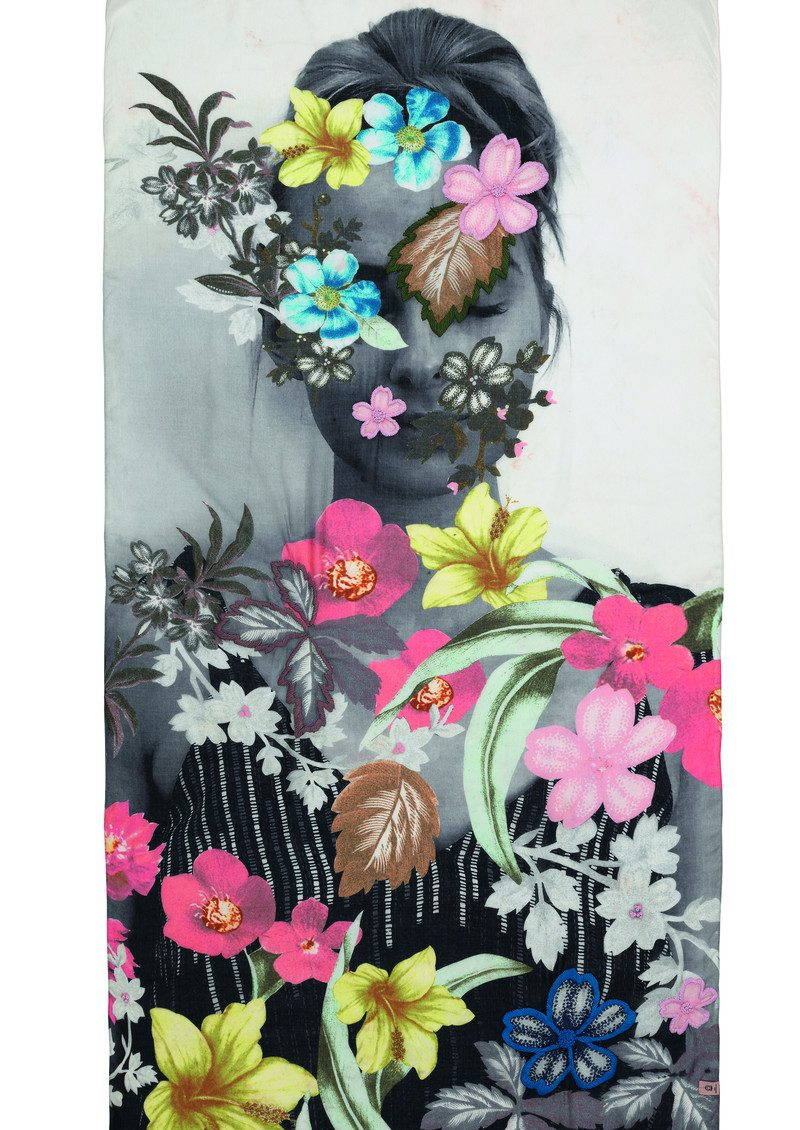 Becksondergaard Lie Embroidered Scarf - Multi main image