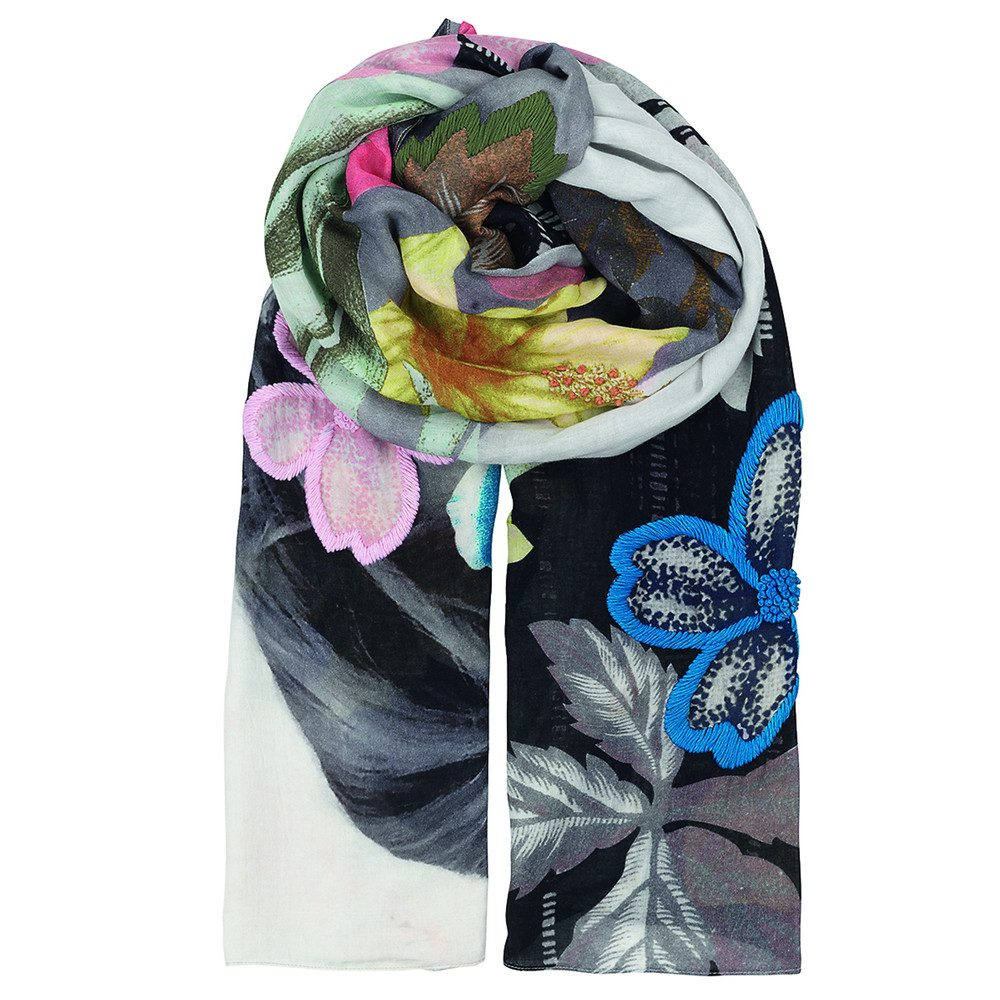 Lie Embroidered Scarf - Multi