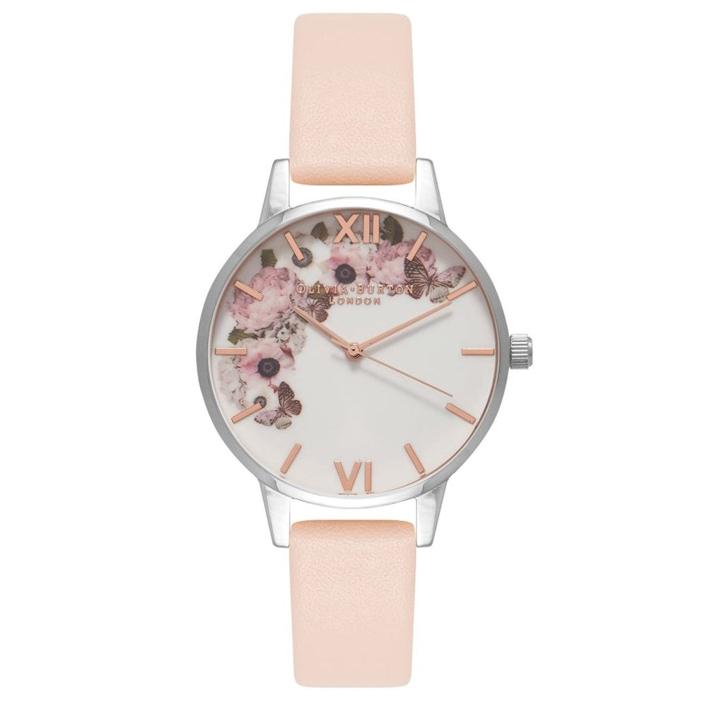 Enchanted Garden Midi Dial Watch - Nude Peach & Silver