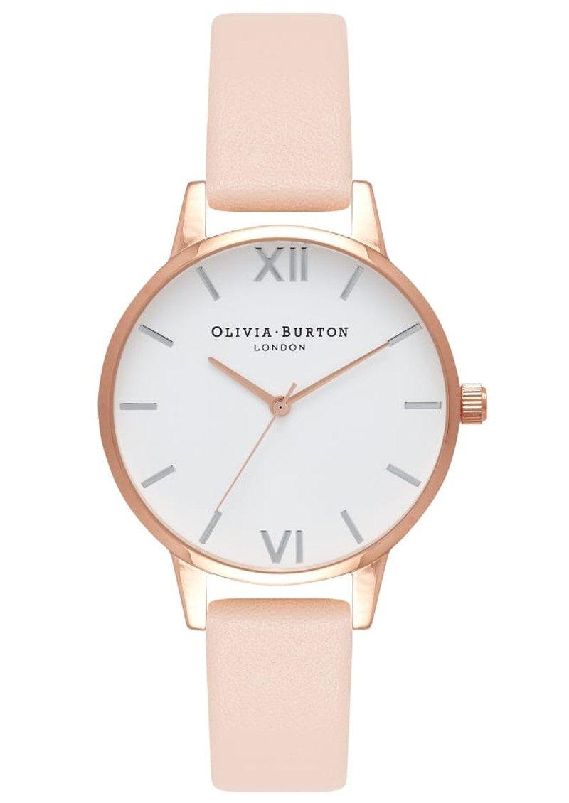 Olivia Burton Midi Dial White Dial Watch - Nude Peach & Rose Gold & Silver main image