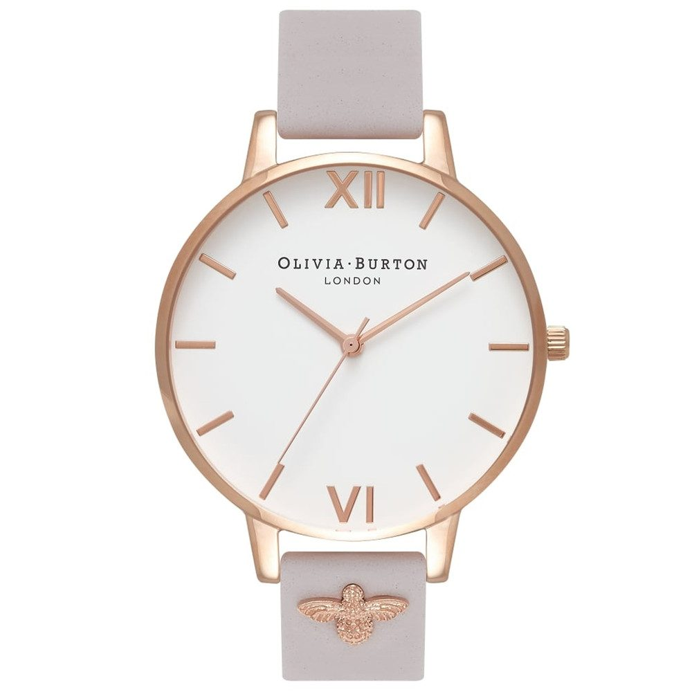3D Bee Embellished Strap Watch - Blush & Rose Gold