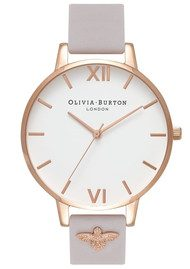 Olivia Burton 3D Bee Embellished Strap Watch - Blush & Rose Gold