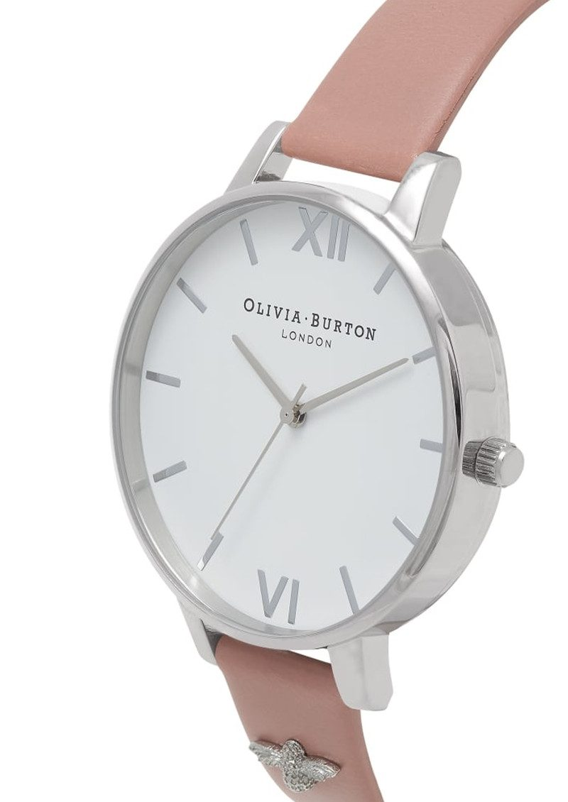 Olivia Burton 3D Bee Embellished Strap Watch - Rose & Silver main image