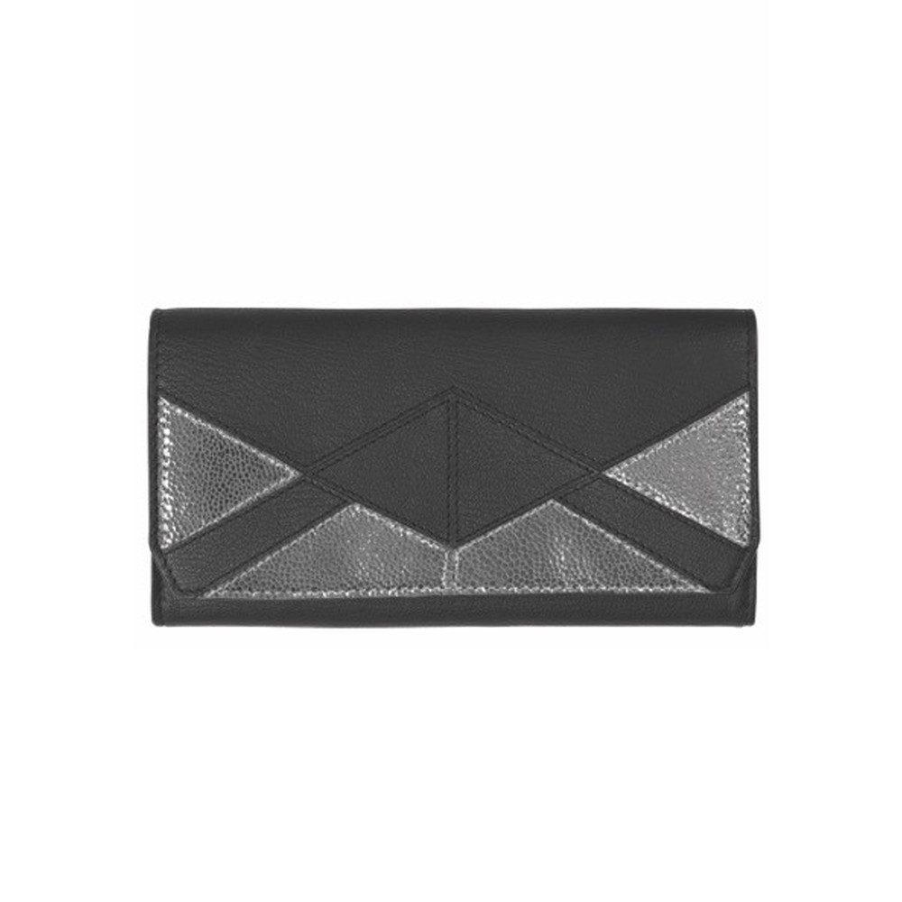 Sauval Leather Purse - Black