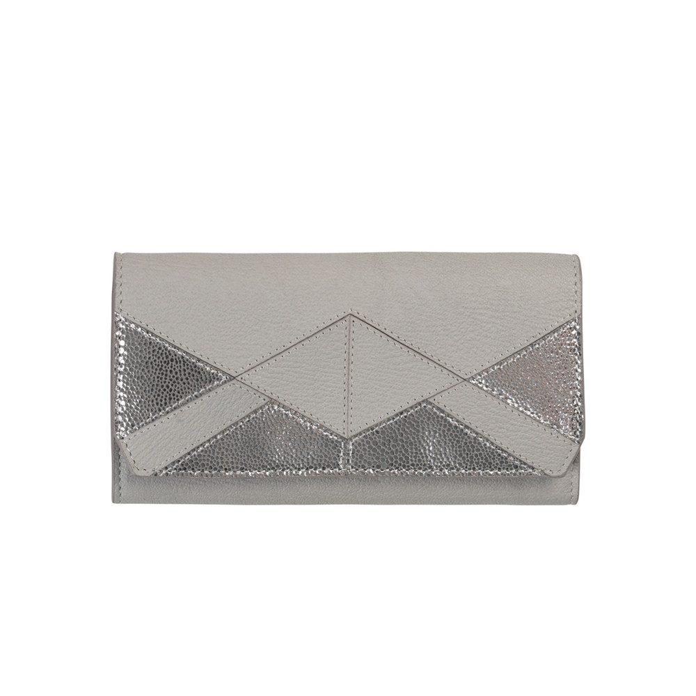 Sauval Leather Purse - Chateau Grey