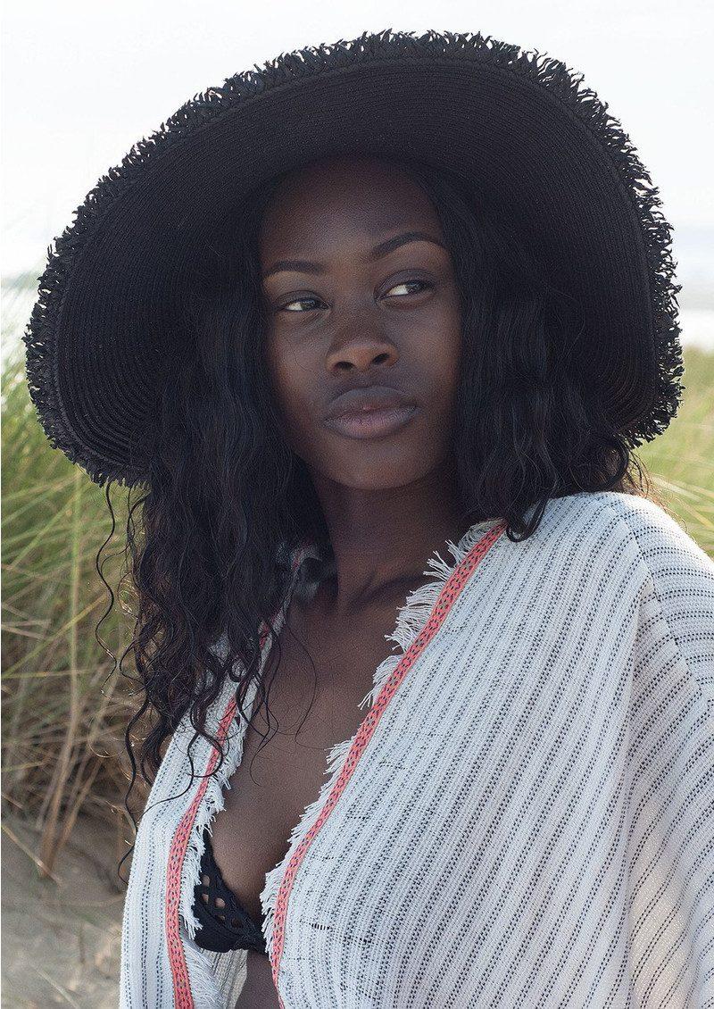 BON BON BEACH Toni Hat - Black main image