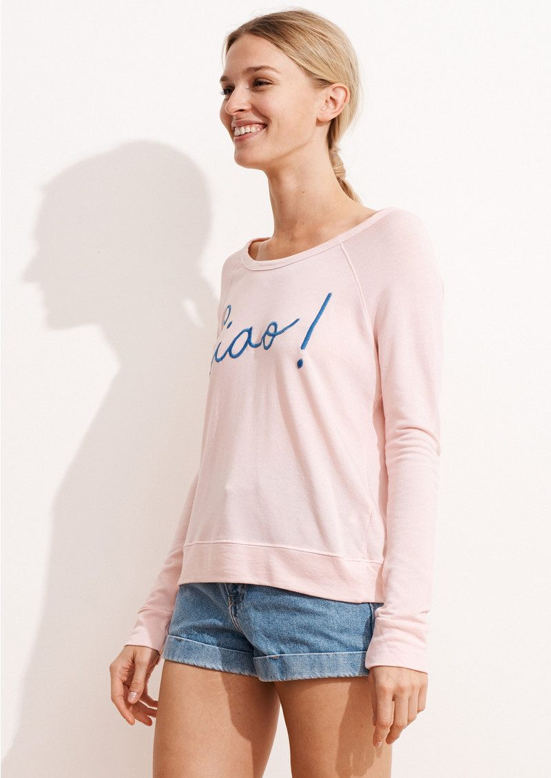 Ciao! Cropped Pullover - Rose main image