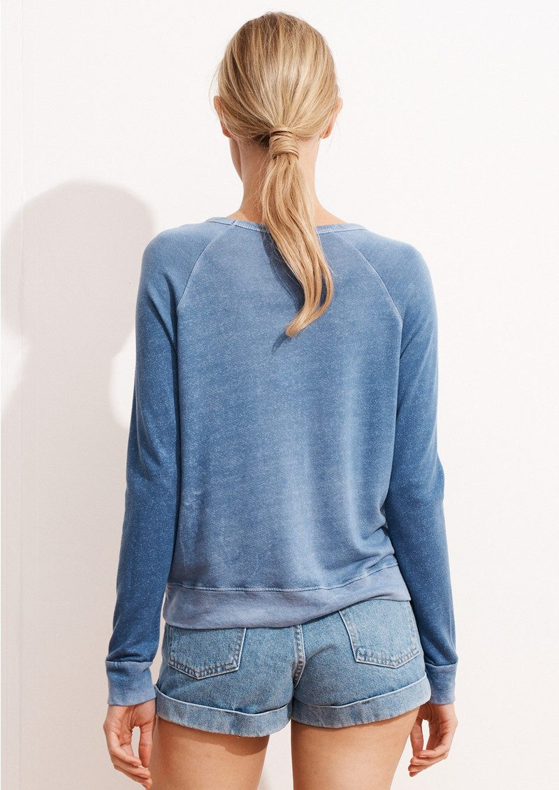 SUNDRY Bonne Vibes Cropped Pullover - Rose main image