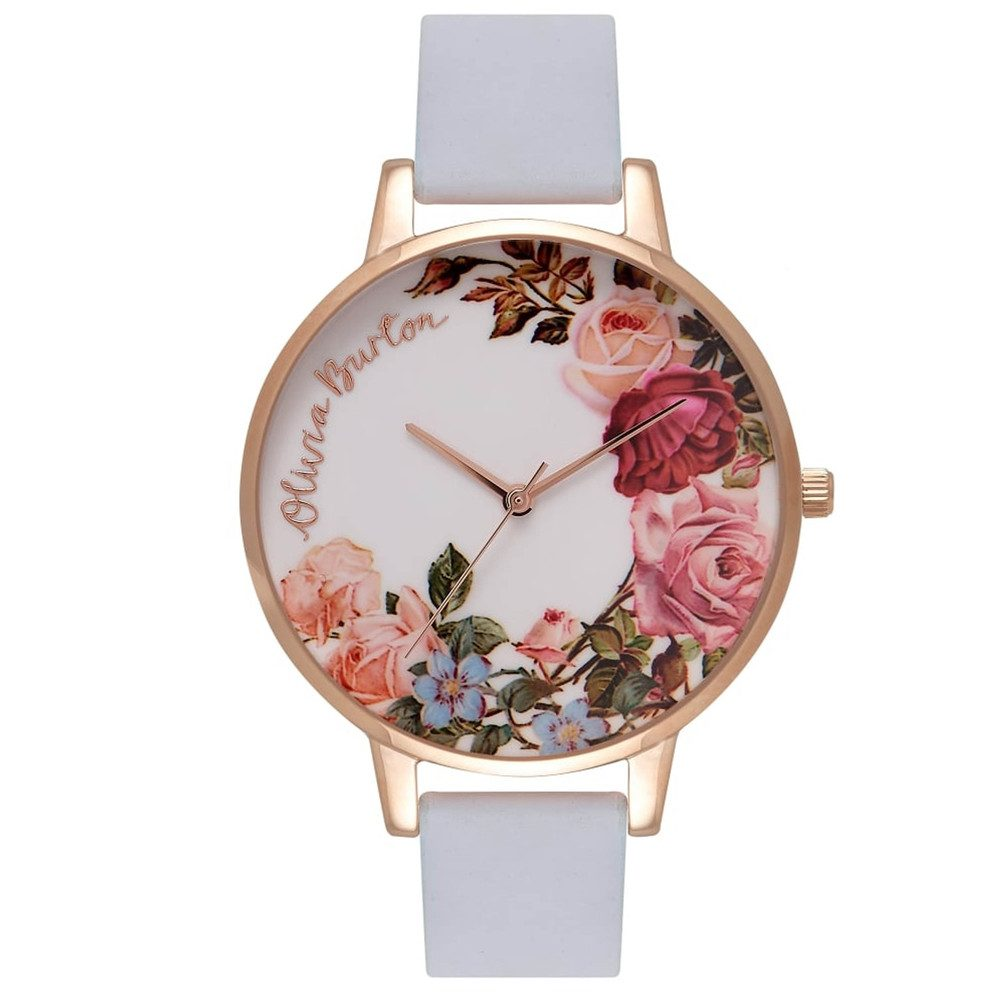 English Garden Watch - Chalk Blue & Rose Gold