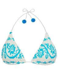 HEIDI KLEIN Sophie Anderson Isla Baru Triangle Bikini Top - Light Blue
