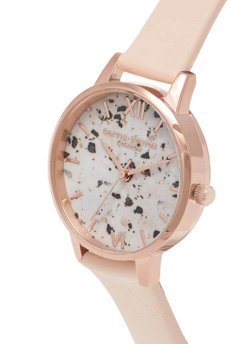 Olivia Burton Vintage Marble Midi Watch - Nude Peach & Rose Gold main image