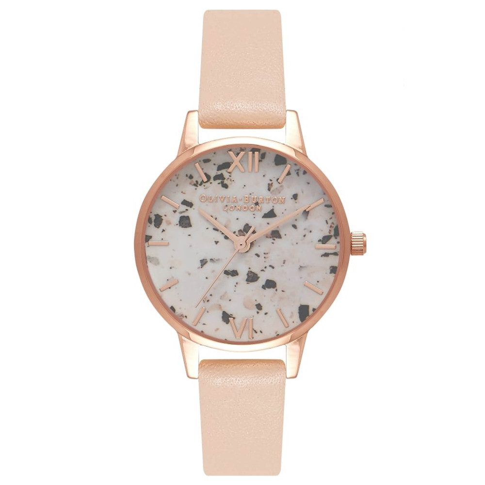 Vintage Marble Midi Watch - Nude Peach & Rose Gold