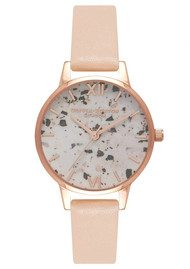 Olivia Burton Vintage Marble Midi Watch - Nude Peach & Rose Gold