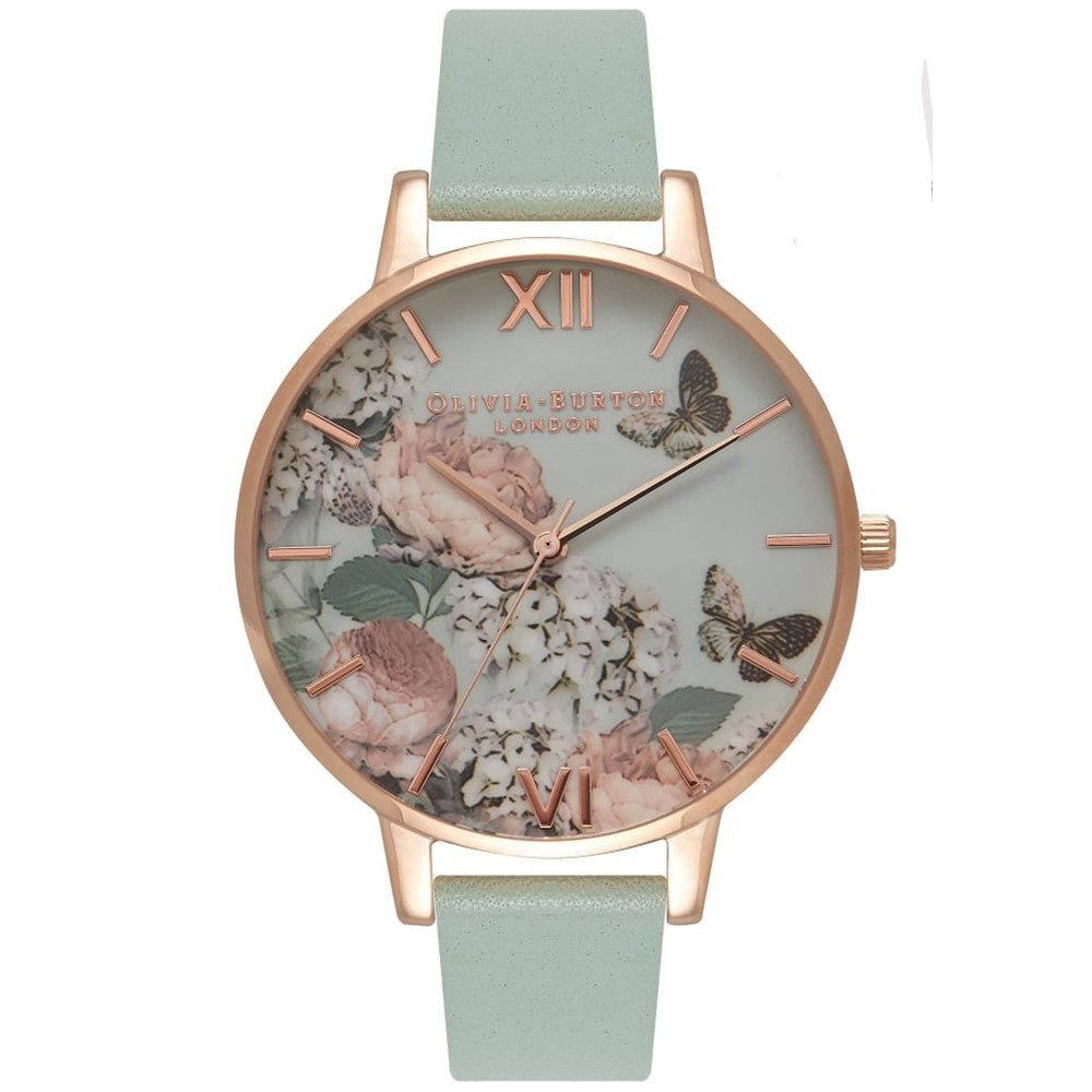 Enchanted Garden Watch - Mint & Rose Gold