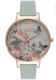 Olivia Burton Enchanted Garden Watch - Mint & Rose Gold