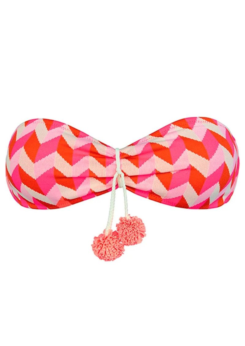 HEIDI KLEIN Sophie Anderson Rosario Bandeau Bikini Top - Pink main image