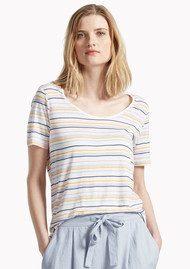 Great Plains Sugar Stripe Colour T-Shirt - Multi