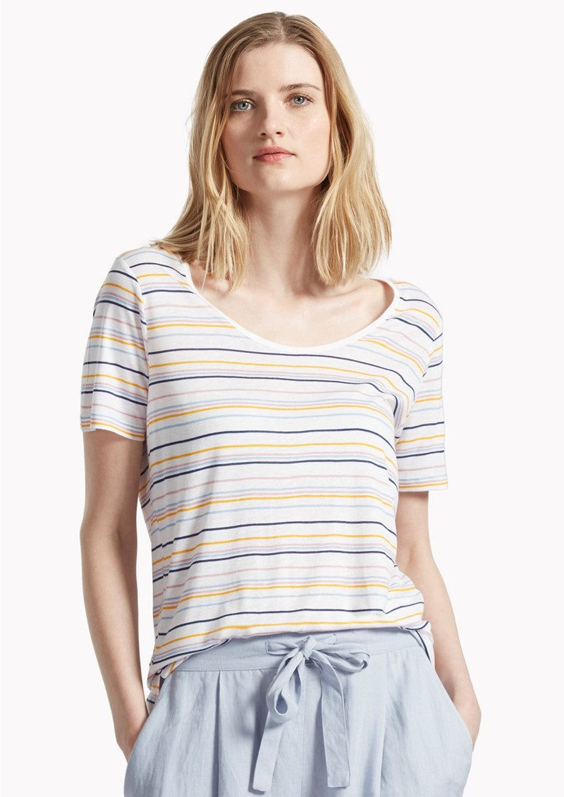 Great Plains Sugar Stripe Colour T-Shirt - Multi main image