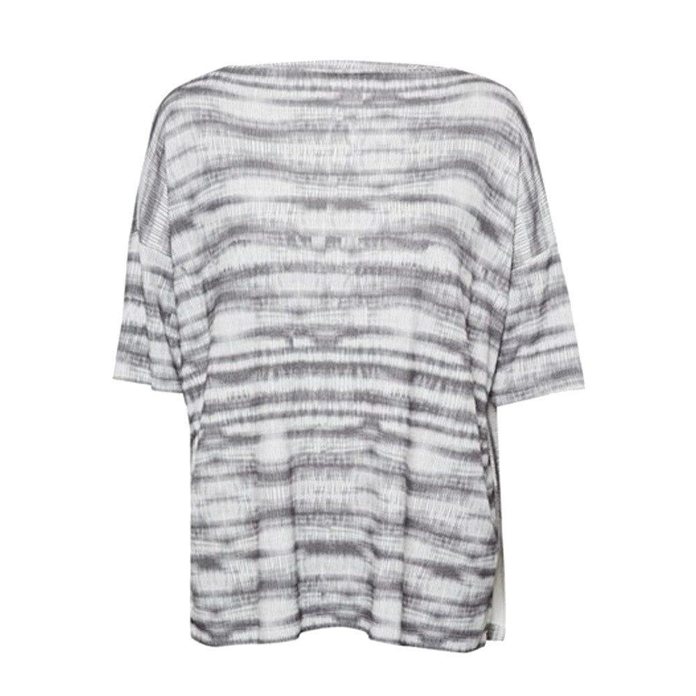 Sonar Stripe Slouch Top - Black Combo
