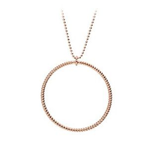 Big Twisted Necklace - Rose Gold