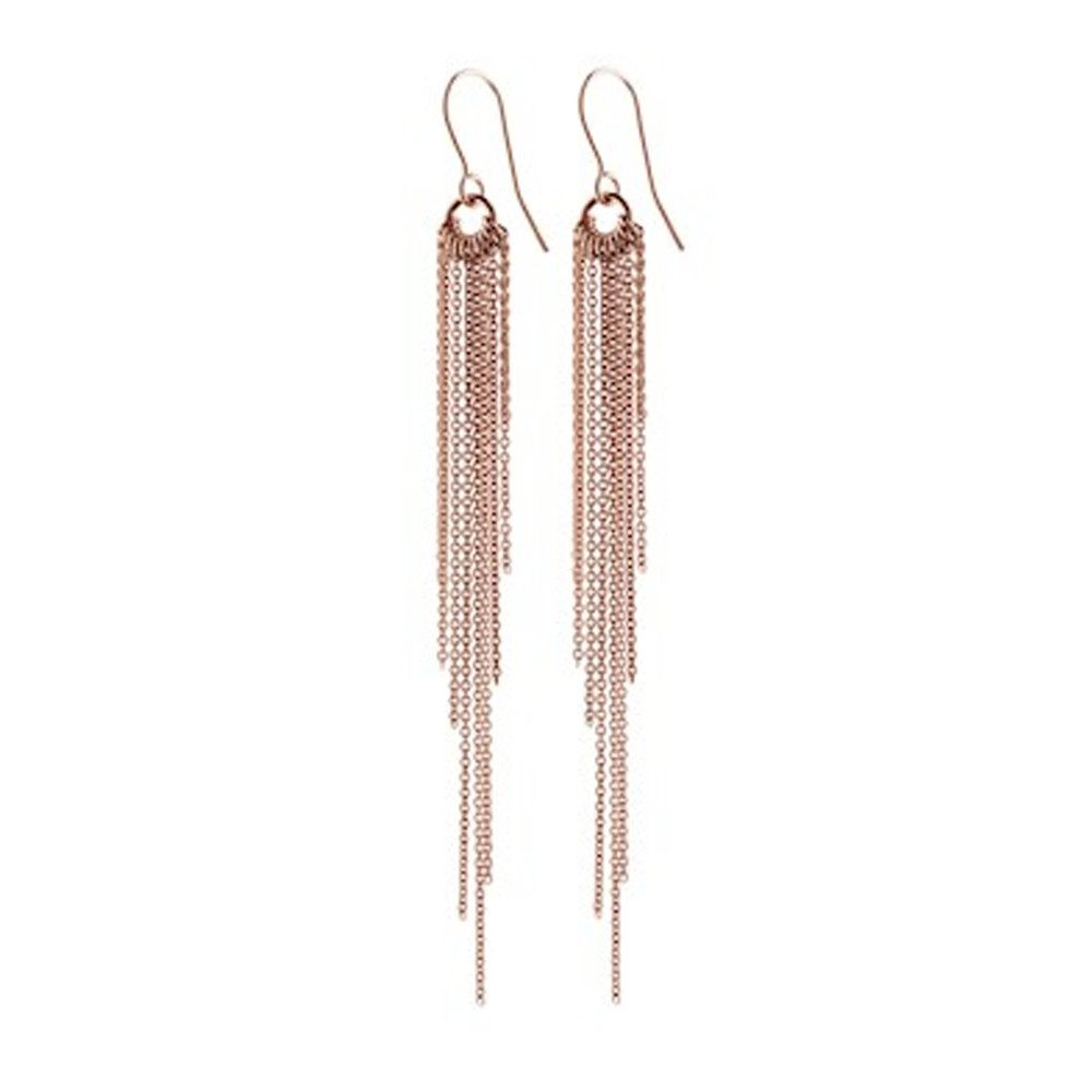 Rain Hook Earrings - Rose Gold