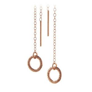 Circle Earchain - Rose Gold