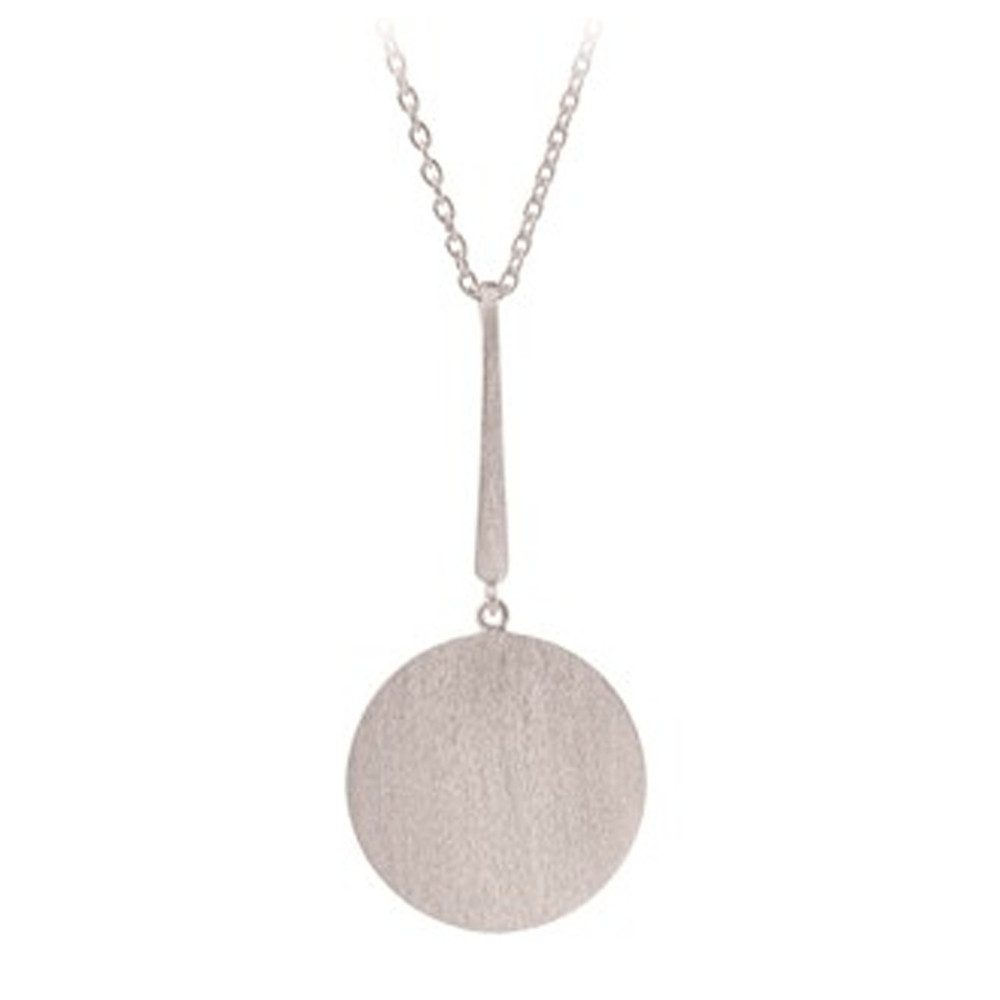Long Coin Necklace - Silver