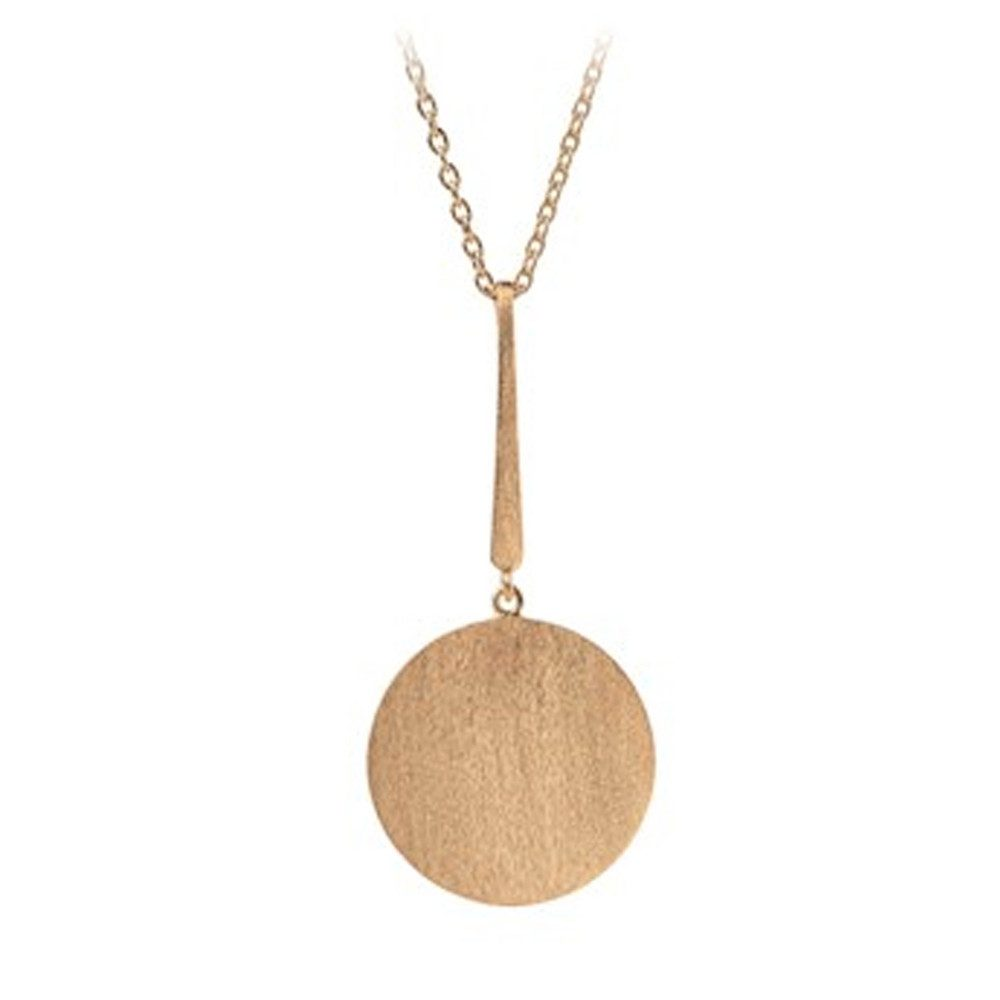 Long Coin Necklace - Gold