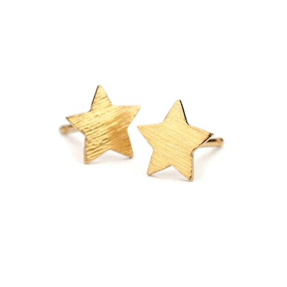 Medium Star Earrings - Gold