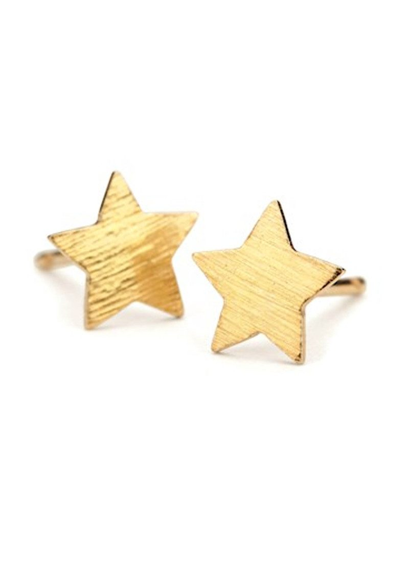 Medium Star Earrings - Gold main image