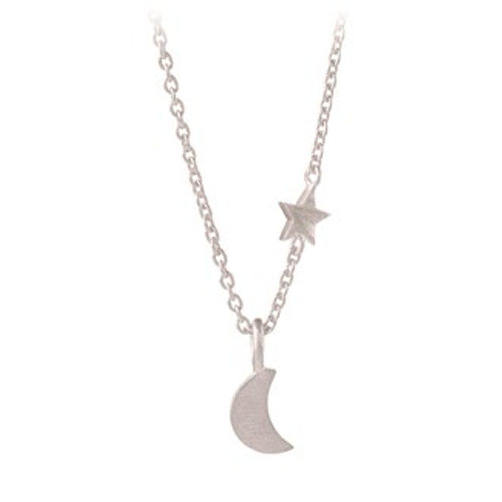 Luna Star Necklace - Silver