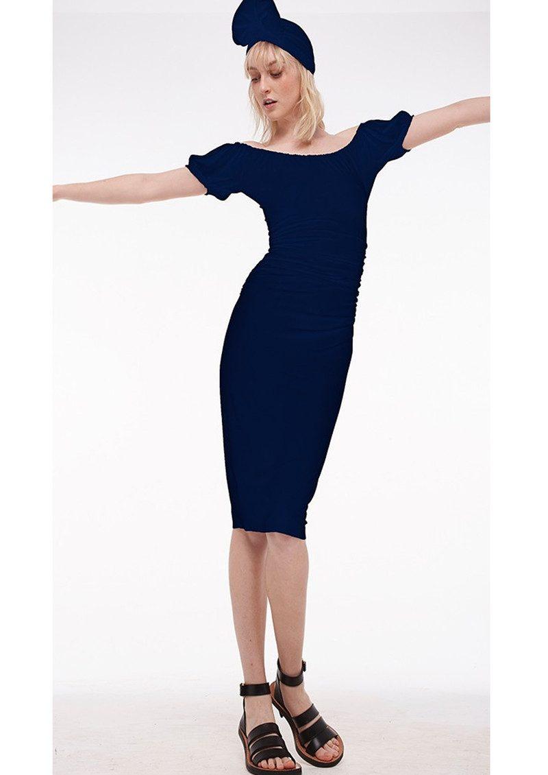 KAMALI KULTURE Sophia Shirred Waist Dress - Midnight main image
