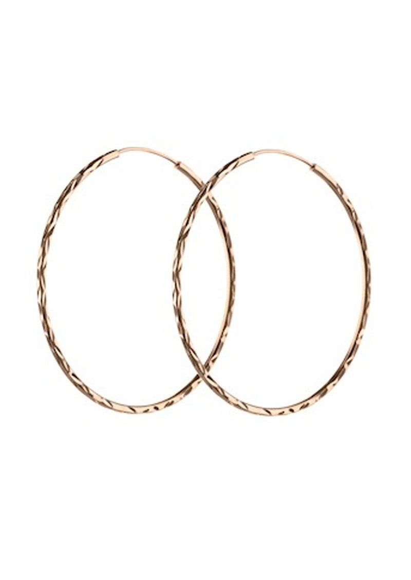 PERNILLE CORYDON LARGE FACET CREOL HOOPS - ROSE GOLD main image