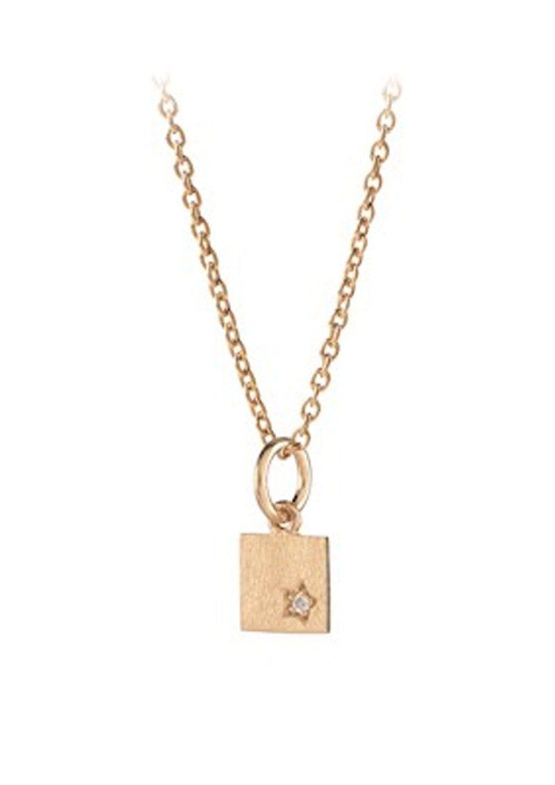 pernille corydon square necklace gold