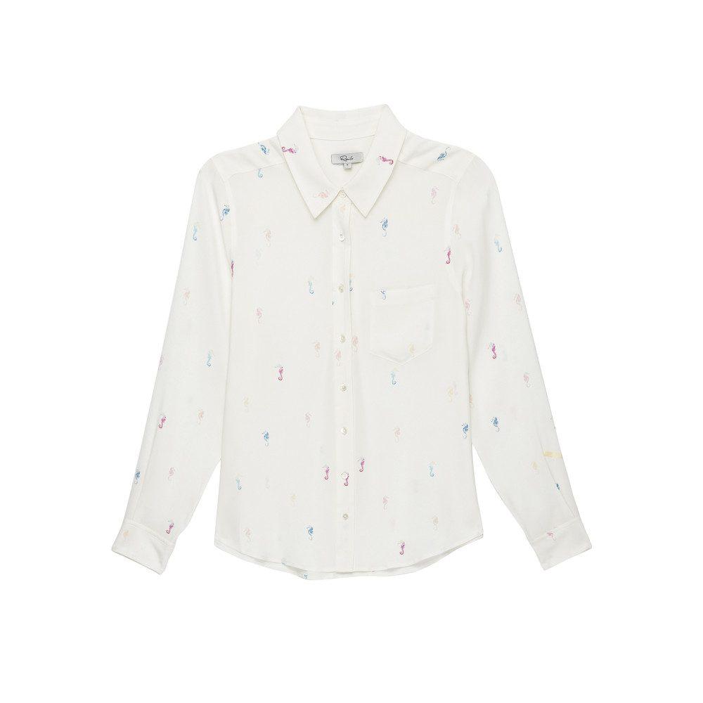 Kate Silk Shirt - Seahorses