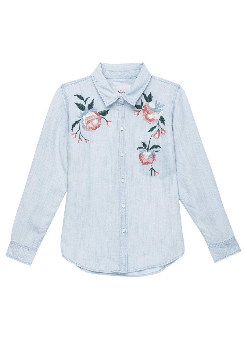 Rails Chandler Embroidered Shirt - Vintage Wash main image