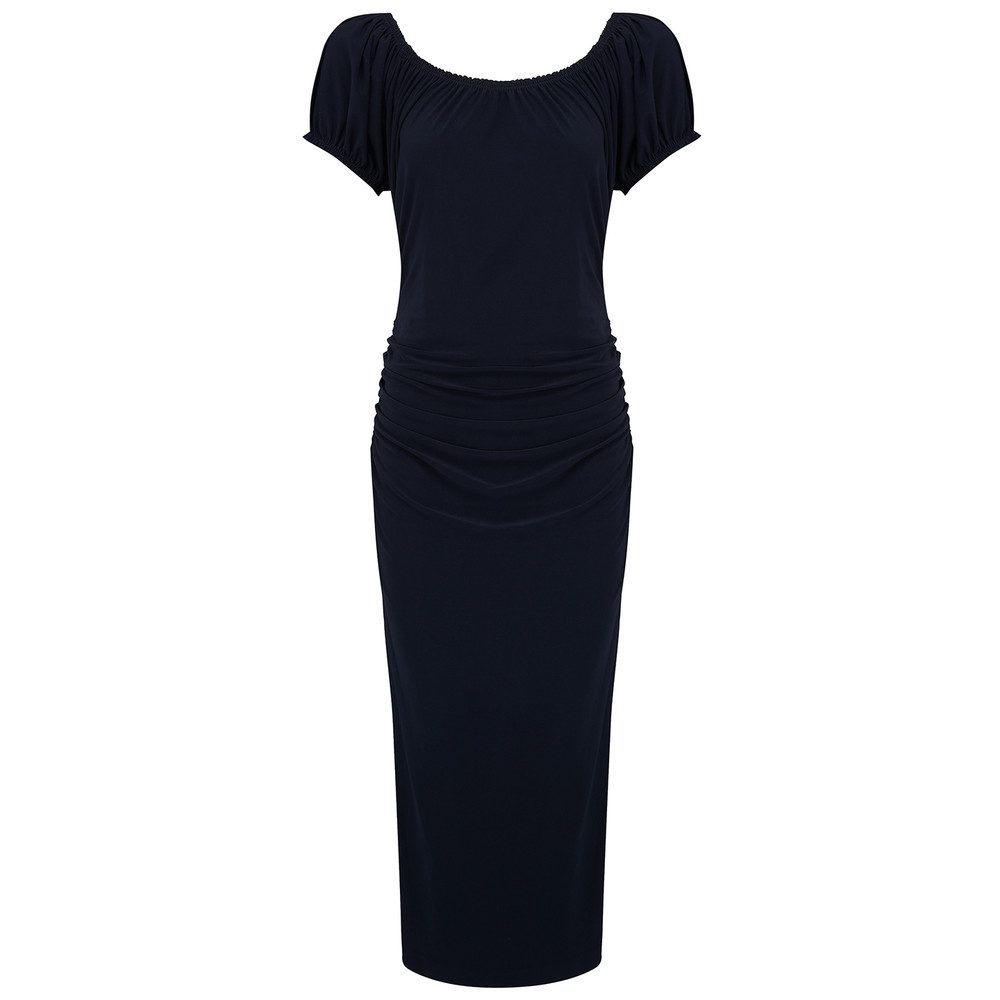 Sophia Shirred Waist Dress - Midnight