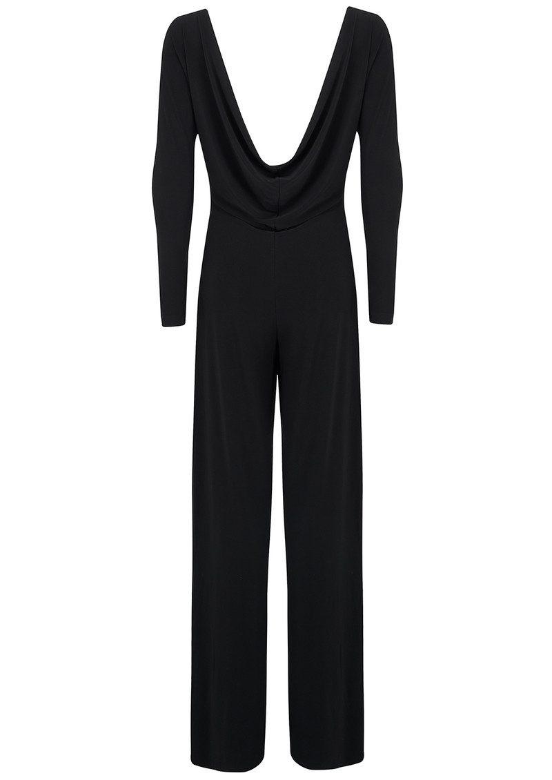 KAMALI KULTURE Long Sleeved Draped Back Jumpsuit - Black main image