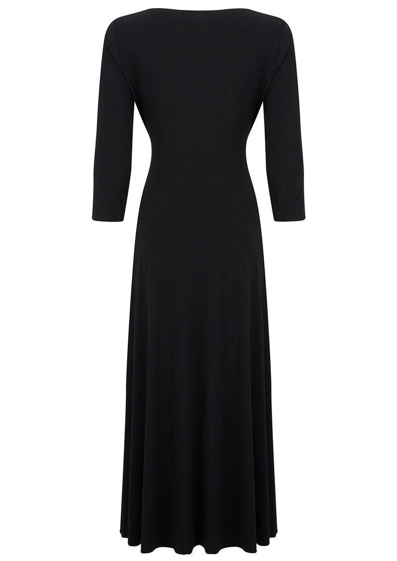 KAMALI KULTURE Long Sleeve Reversible Scoop Neck Dress - Black main image