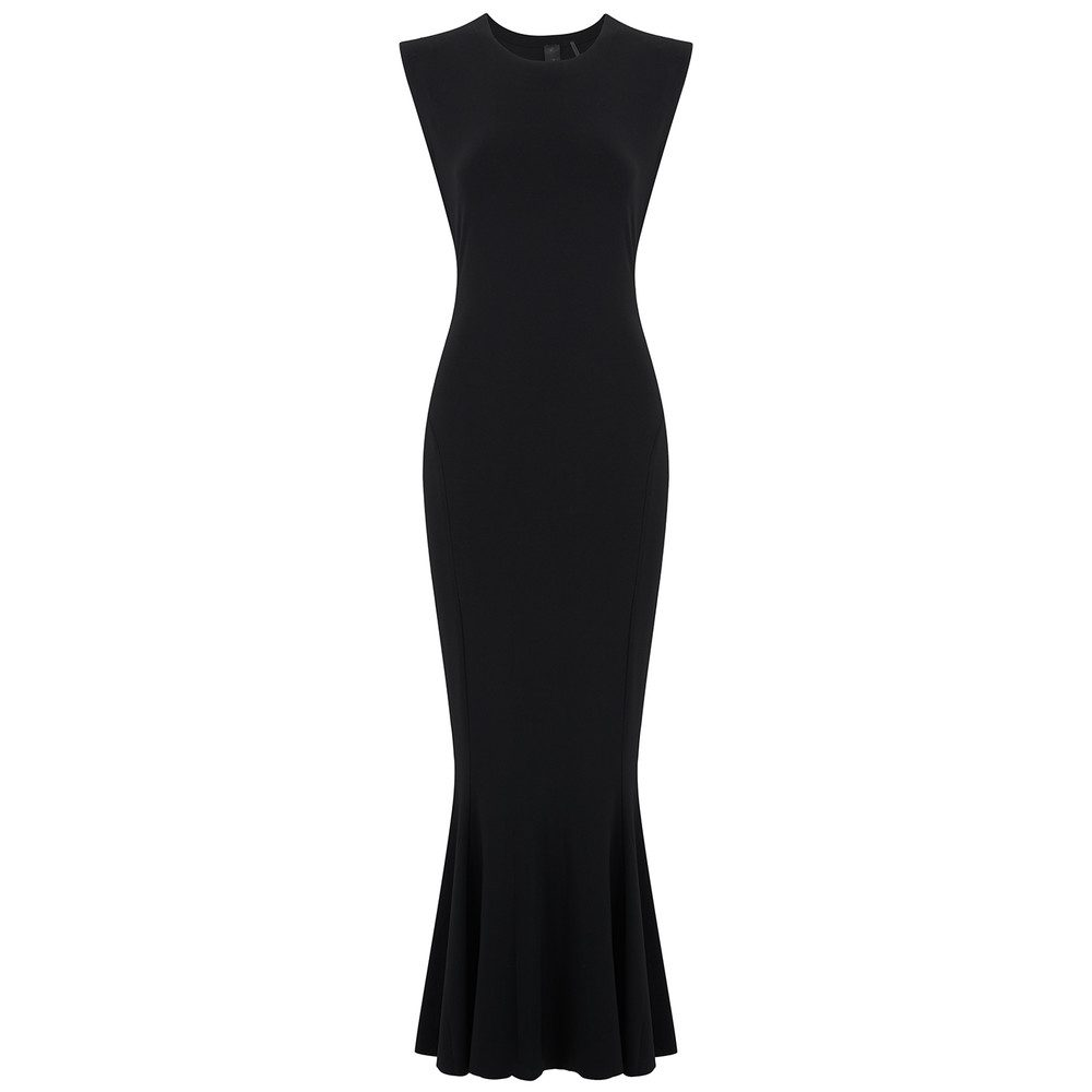 Sleeveless Fishtail Dress - Black