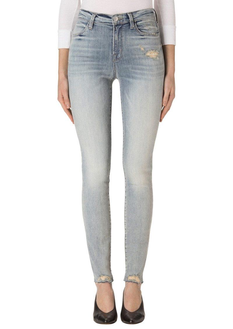 J Brand Maria High Rise Skinny Jeans - Remnant Destruct main image