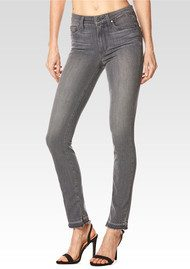 Paige Denim Hoxton Ankle Peg Released Hem Jeans - Silvie