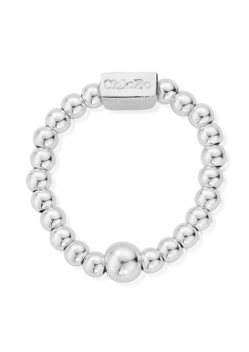 ChloBo Mini Ball Ring - Silver main image