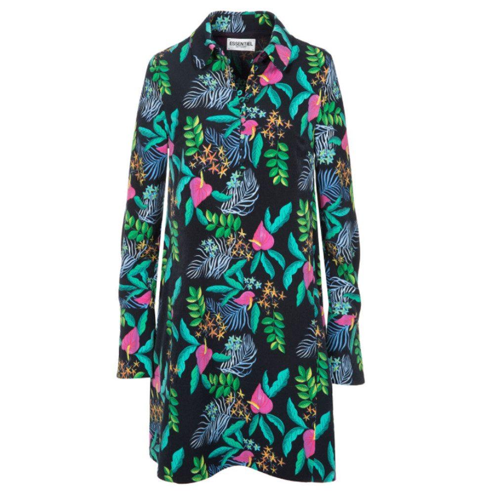 Ohanna Printed Dress - Chinese Blue