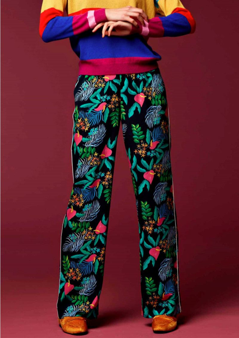 Essentiel Orake Printed Trousers - Chinese Blue main image
