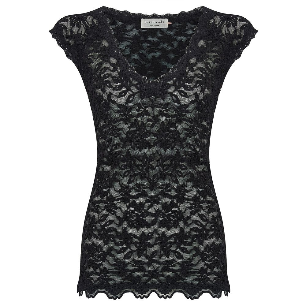 Delicia Short Sleeve Lace Top - Black